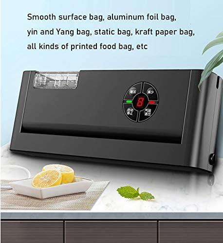 YYZLG Machine à sceller sous vide, Machine automatique de scellage alimentaire, support alimentaire, mode de scellage sec et humide, design compact, facile à nettoyer
