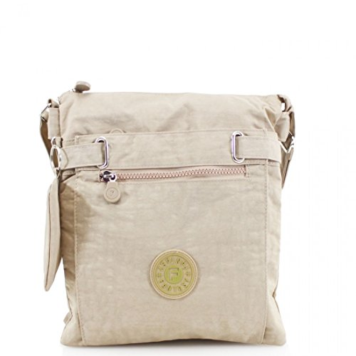 Holiday Cross Bags LeahWard 108 Shoulder Women's Canvas Body Beige YnInwETq
