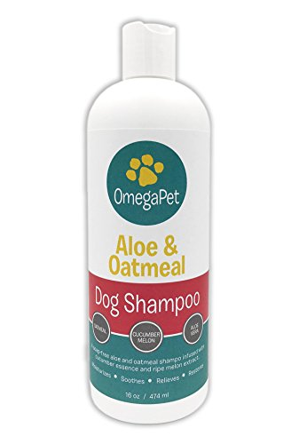 Dog Shampoo for Itchy Skin - Oatmeal Pet Shampoo and Conditioner - Aloe and Shea Extract for Dogs and Cats