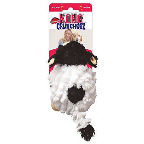 Kong Company RC31 Barnyard Cruncheez Cow Dog Toy Black/White, Small
