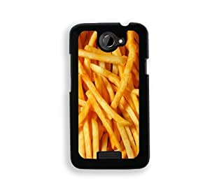 French Fries - Protective Designer BLACK Case - Fits HTC One X / One X+