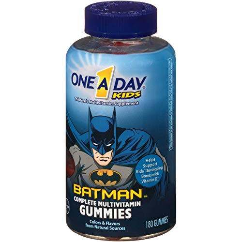 One A Day Kids Batman Multivitamin Gummies, 180 Count