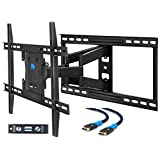 Mounting Dream MD2296-24 TV Wall Mount Bracket with Full Motion Articulating Arms for most 42-70'' LED, LCD, OLED and Plasma TVs up to VESA 600 x 400mm and 100 lbs. Fits 16'', 18'', 24'' wood studs.