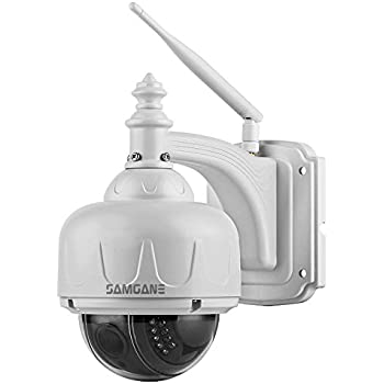 Samgane Outdoor PTZ Camera 1080P High Definition Wireless WIFI Security Camera,4x Optical Zoom Auto-focus 2.0 Megapixel IR Night Vision IP66 Weatherproof, No SD Card Pre-installed SC-17W