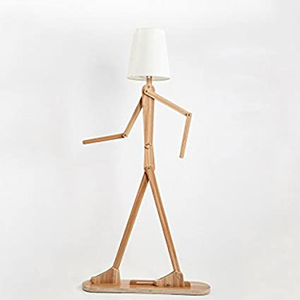 LWF Madera Original lámpara de pie 1.6m lámpara de Interior Modelo de la luz Sombra