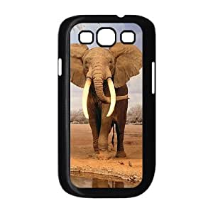 Doah Cute Elephant Samsung Galaxy S3 Case elephant 2 For Teen Girls Protective, Samsung Galaxy S 3 Cases Guys For Teen Girls Protective [Black]