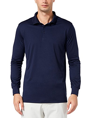 Performance Mens Golf Polo (Baleaf Men's UPF 30+ Long Sleeve Golf Performance Polo Shirt Navy Size XL)