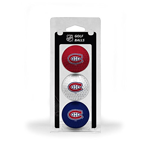 Team Golf NHL Montreal Canadiens Regulation Size Golf Balls, 3 Pack, Full Color Durable Team Imprint