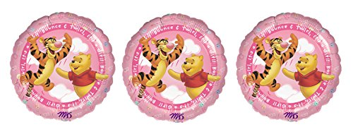 3 Winnie the Pooh It's A Girl Foil Balloons ()