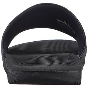 NIKE Men's Kawa Slide Sandal, Black/White, 11 D(M) US