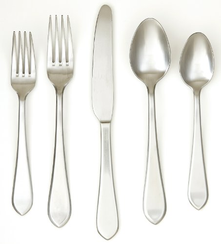 (Cambridge Silversmiths West Satin 20-Piece Flatware Set, Service for 4)