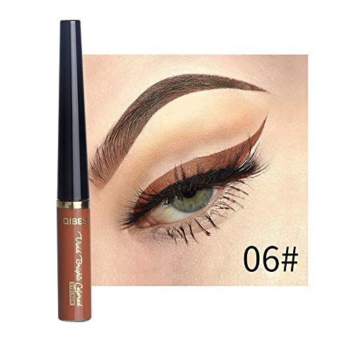 Orcbee  _Beauty Metallic Shiny Smoky Eyes Eyeshadow Waterproof Glitter Liquid Eyeliner (F)