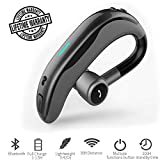 Bluetooth Earpiece Wireless Headset Hands-Free Earphones 180°Rotating Headphones with Noise Cancellation Earbud Long Standby Time for Smart Phone Car Driver Trucker Business Man Office Lady