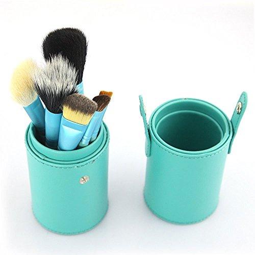 eBoTrade 12 pcs Professional Makeup Brush Brushes Set Kit Leather Cup Holder Case Blue