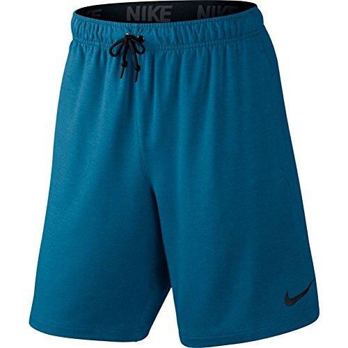 Nike Mens Dry Fleece Training Shorts (Small, Industrial Blue/Black)