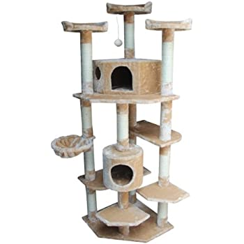 Amazon.com : Kitty Mansions Denver Cat Tree, Beige : Cat