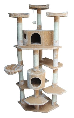 Kitty Mansions Denver Cat Tree, Beige