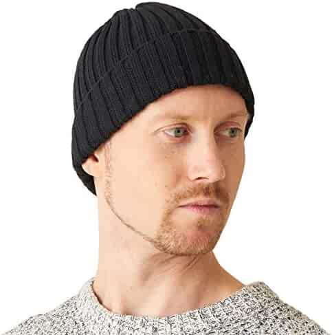 6980409f CHARM Mens Fisherman's Beanie Hat - Cotton Slouch Cap Women Chemo Knit  Winter