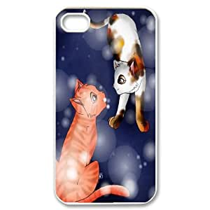 For Iphone 4 4S case cover Smart Cat Art Pattern Protective Back Case-Style-20