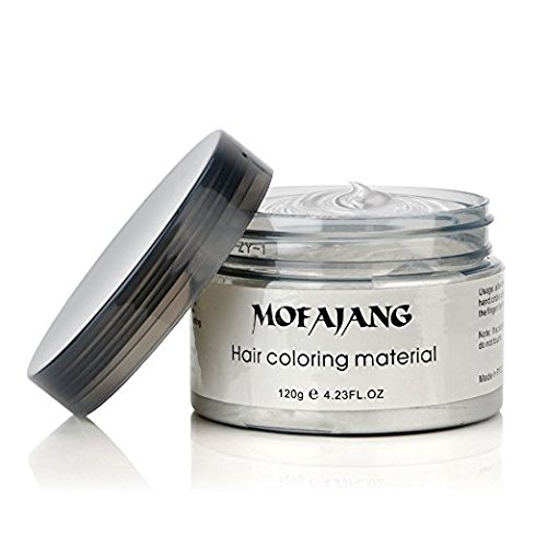 Temporary White Hair Color Wax, Efly MOFAJANG Instant Hairstyle Cream 4.23 oz Hair Pomades Hairstyle Wax for Men and Women (white) by Efly