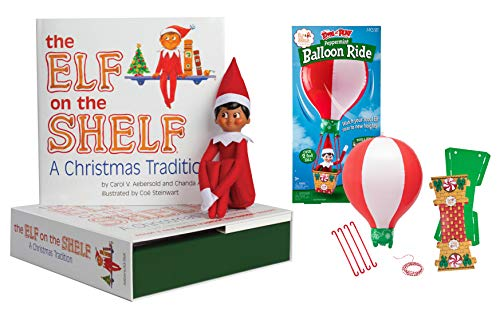The Elf on the Shelf: A Christmas Tradition - Dark Boy with Scout Elves at Play Peppermint Balloon Ride