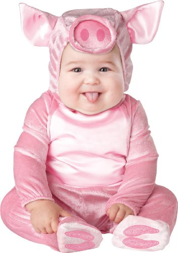[InCharacter Costumes Baby's This Lil' Piggy Costume, Pink, Large] (Piglet Costumes For Kids)