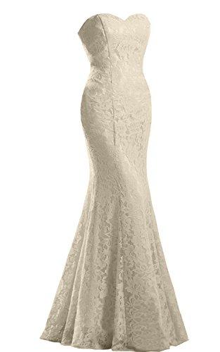 JinXuanYa Women's Lace Wedding Dress Mermaid Evening Dress Free with Belt