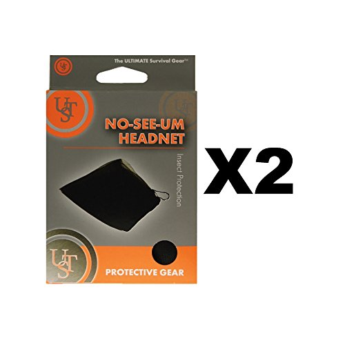 Ultimate Survival Technologies No-See-Um Head Net Black Camping Mosquito(2-Pack)