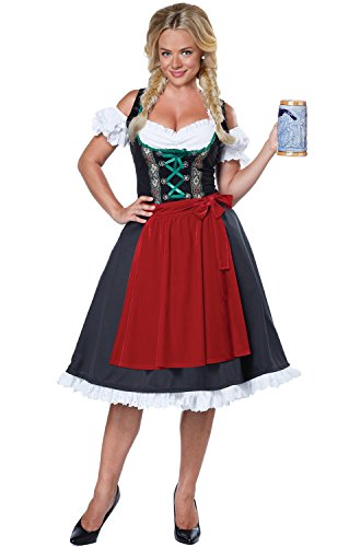 California Costumes Women's Oktoberfest Fraulein Costume, Black/Red, Small
