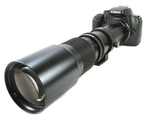 BOWER 500mm Preset Telephoto Lens for Canon dSLR XS, XSI, XT