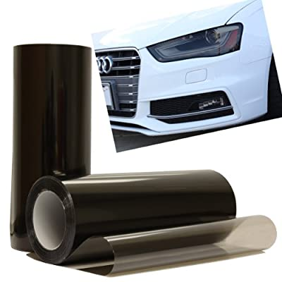 "Optix Smoke Black Light Headlight Taillight Tint Vinyl Film Cover Sheet - 12"" x 36"" Inch: Automotive"