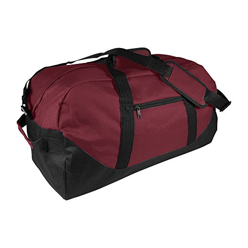 21' Large Duffle Bag with Adjustable Strap (Maroon)