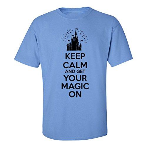 - We Match! Keep Calm & Get Your Magic On T-Shirt Matching Family Enchanted Castle Shirts! (Carolina Blue, Adult Large)