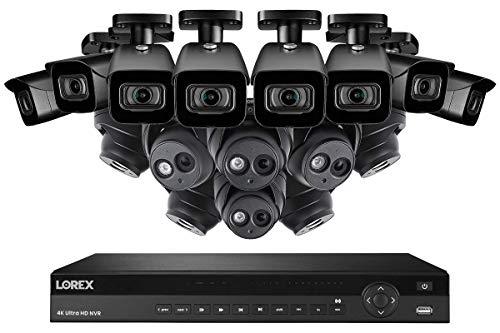 Lorex 16 Channel N881A63B 4K Security System 4KHDIP1688N- 8 4K LNE8950A Audio Turret Cameras