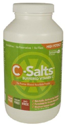 C-sels ® sans OGM mis en mémoire tampon poudre de vitamine C (1000mg - 4000mg) | 140 + portions, 1,6 lb (26oz) | La plus haute forme de Dose de méga Dose/haute qualité, meilleure valeur du supplément de la vitamine C sur le marché aujourd'hui