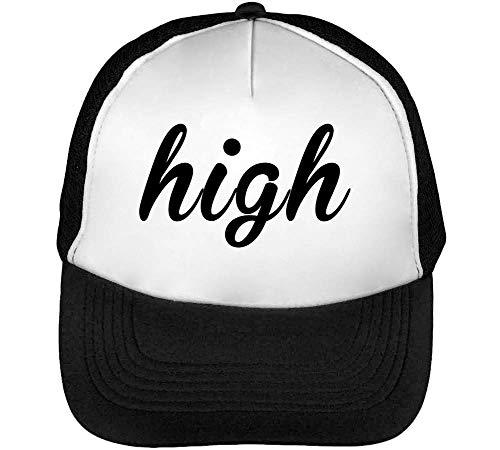 Beisbol Gorras Hombre Snapback High Negro Blanco qt8gzw