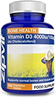Vitamin D 4000iu 360 Micro Tablets. Vegetarian Society Approved. 12 Months Supply. Vitamin D3 Supports Bone Health and...