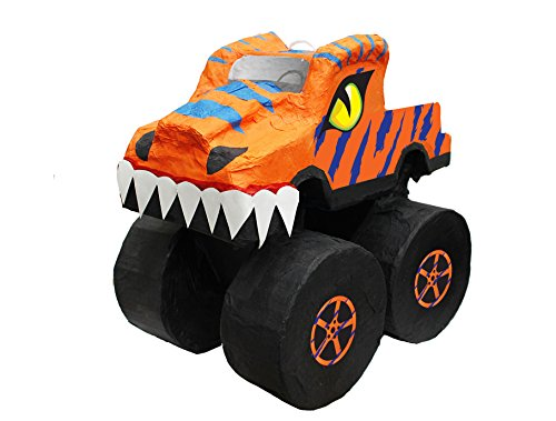 Aztec Imports, Inc. Orange Dino Monster Truck Pinata