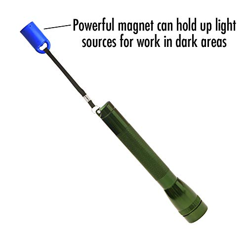 MagnetPal Magnetic Flashlight Holder, Neodymium Magnet for Garage, Flashlight Holder to Keep Your Flashlight in Place when Working on Cars, Trucks or Other Projects That Requires Both Hands, Hands Fre by Magnet Pal