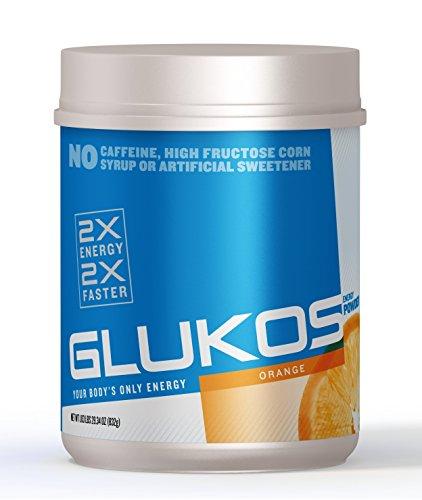 Glukos, Glucose Energy Powder, Orange 2 Gal Bulk Canister, 1.83 lbs