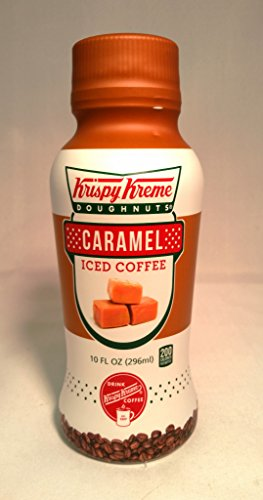 Krispy Kreme Dougnuts Iced Coffee Drinks, 6- 10oz Bottles (Caramel)