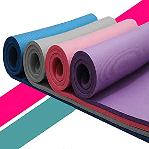 Yoga Mat Thick Non Slip,Lanyun Small 15 Mm Thick And Durable Yoga Mat Anti-Skid Sports Fitness Mat Anti-Skid Mat To Lose Weight Premium Material For All Types Of Yoga, Pilates & Floor Workouts
