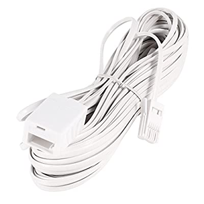 Uxcell BT Male to Female UK Telephone Modem ADSL Extension Cord, 15M 50-Feet