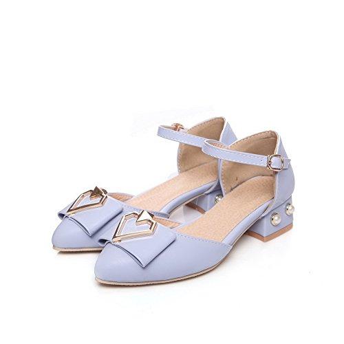 Bleu 36 Compensées 5 Femme EYR00256 Sandales Aimint EU Bleu awq4UCI4x
