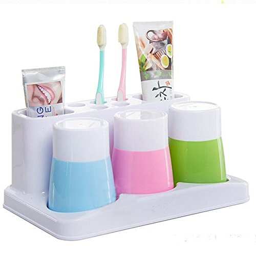 Eslite toothbrush toothpaste holder stand for bathroom storage organizer daily deals daily deals - Keep toothpaste kitchen ...