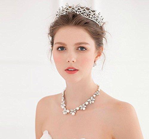 Sunshinesmile Wedding Bridal Silver Crystal Rhinestone Hair Accessories Headband Crown Tiara