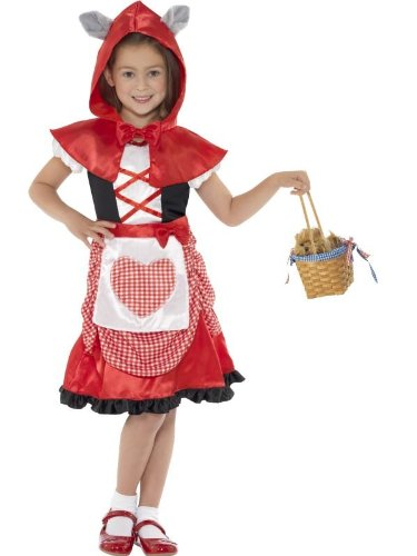 Smiffy's Children's Miss Hood Costume, Dress And Hooded Cape With Attached Wolf