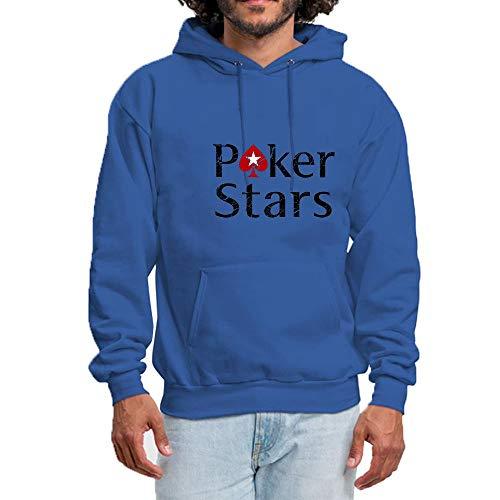 Novelty Poker Casual Shenmahu Sweatshirt Graphic Blue Hoodies Hooded Men's Star Cotton ptxtw4TqX