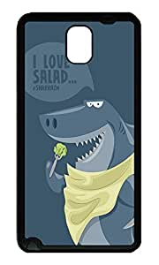 Note 3 Case, Galaxy Note 3 Case, [Perfect Fit] Soft TPU Crystal Clear [Scratch Resistant] Funny Shark Illustration Fun Back Case Cover for Samsung Galaxy Note 3 N9000 Cases