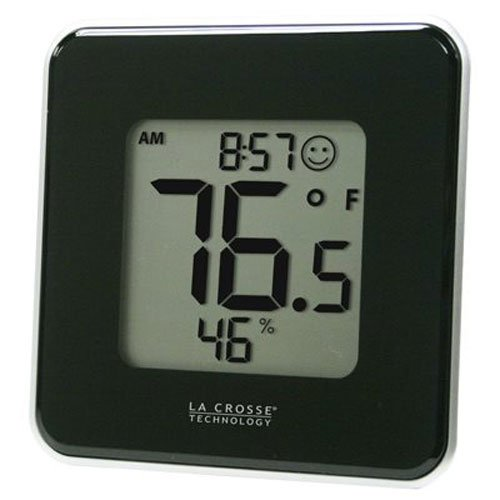 604 Manual - La Crosse Technology 302-604B Black Indoor Digital Thermometer & Hygrometer Station with MIN/MAX records & Comfort level icon